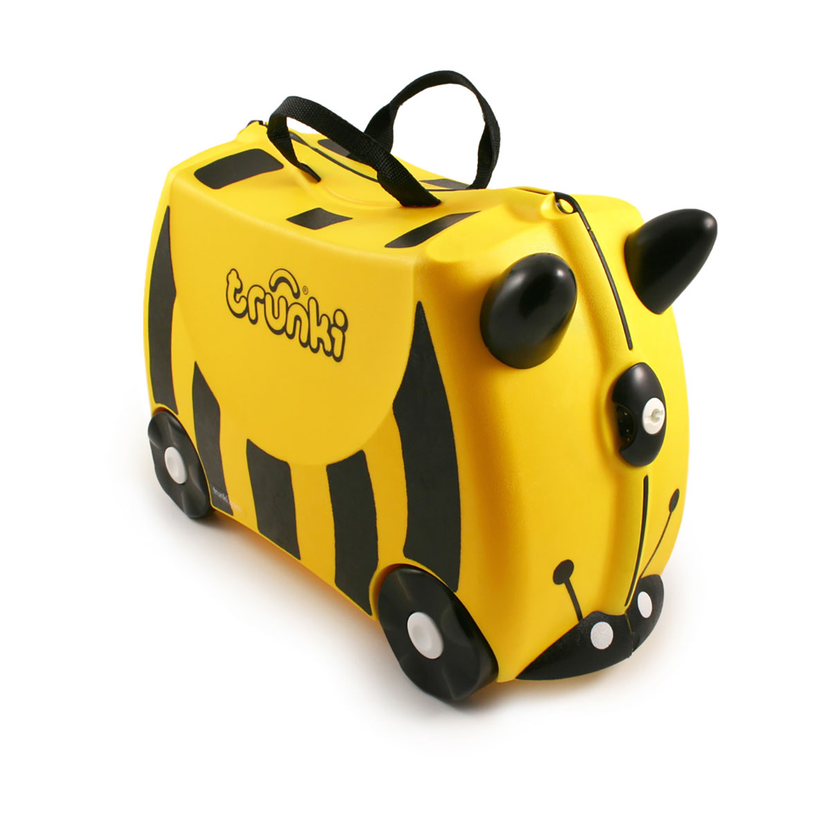 Valiza pentru copii Ride-On Bernard Trunki, Galben, 46 cm imagine 2021