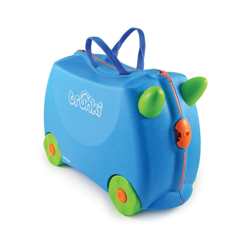 Valiza pentru copii Ride-On Terrance Trunki, Albastru, 46 cm imagine 2021