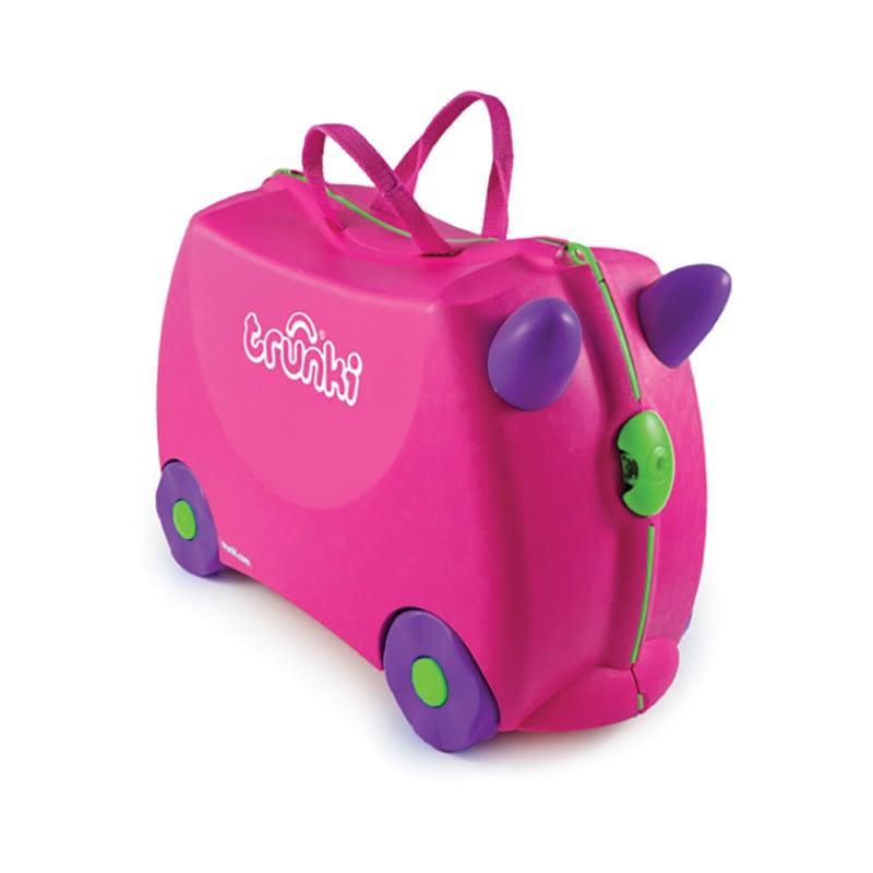 Valiza pentru copii Ride-On Trixie Trunki, Roz, 46 cm imagine