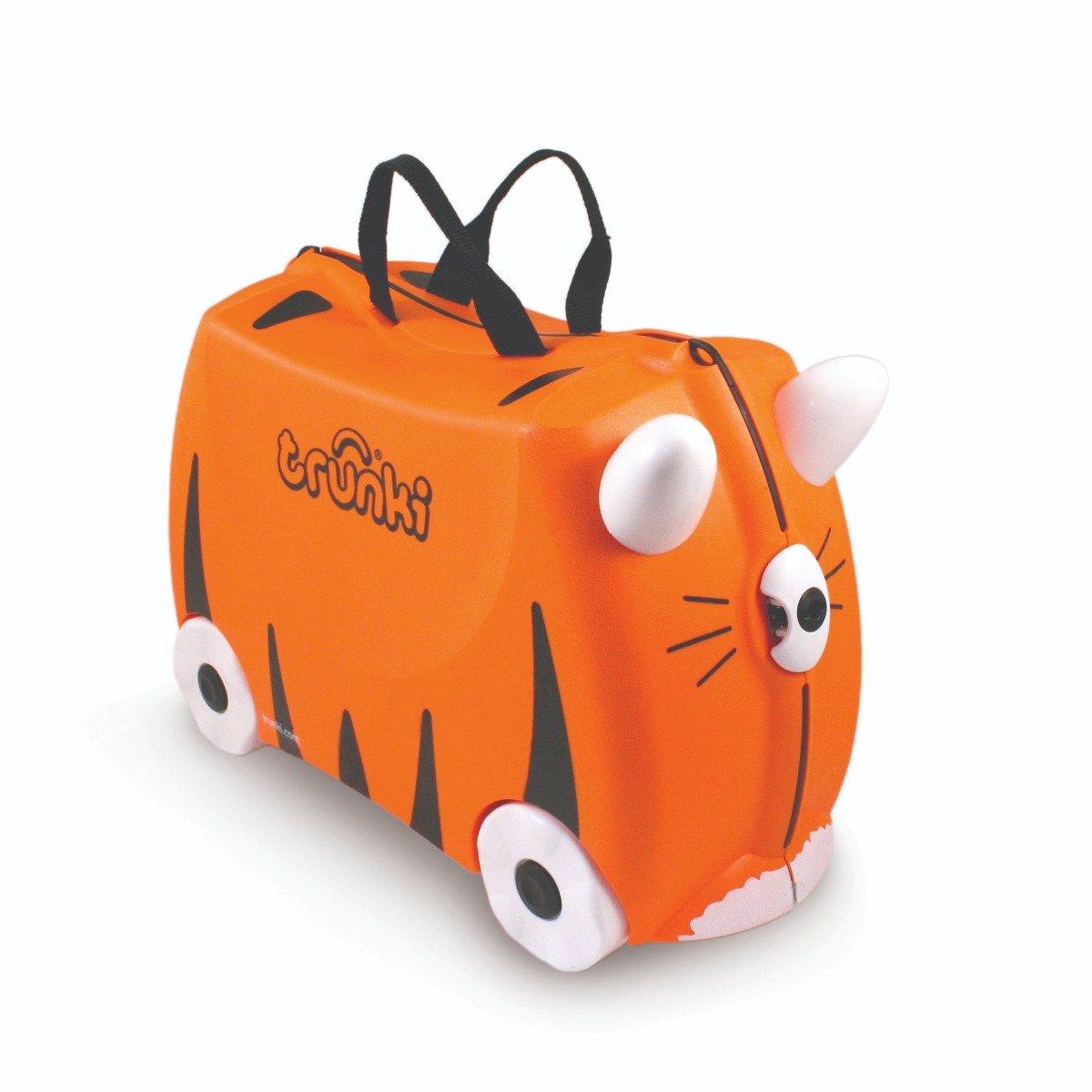 Valiza pentru copii Ride-On Tipu Trunki, Portocaliu, 46 cm imagine