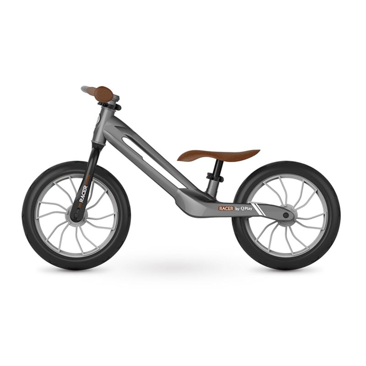 Bicicleta fara pedale DHS Baby Qplay Racer, Gri,12 inch