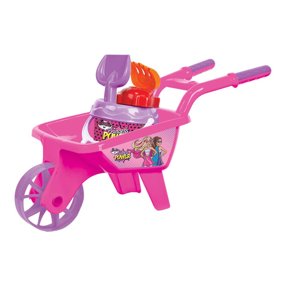 roaba cu accesorii de nisip barbie - roz