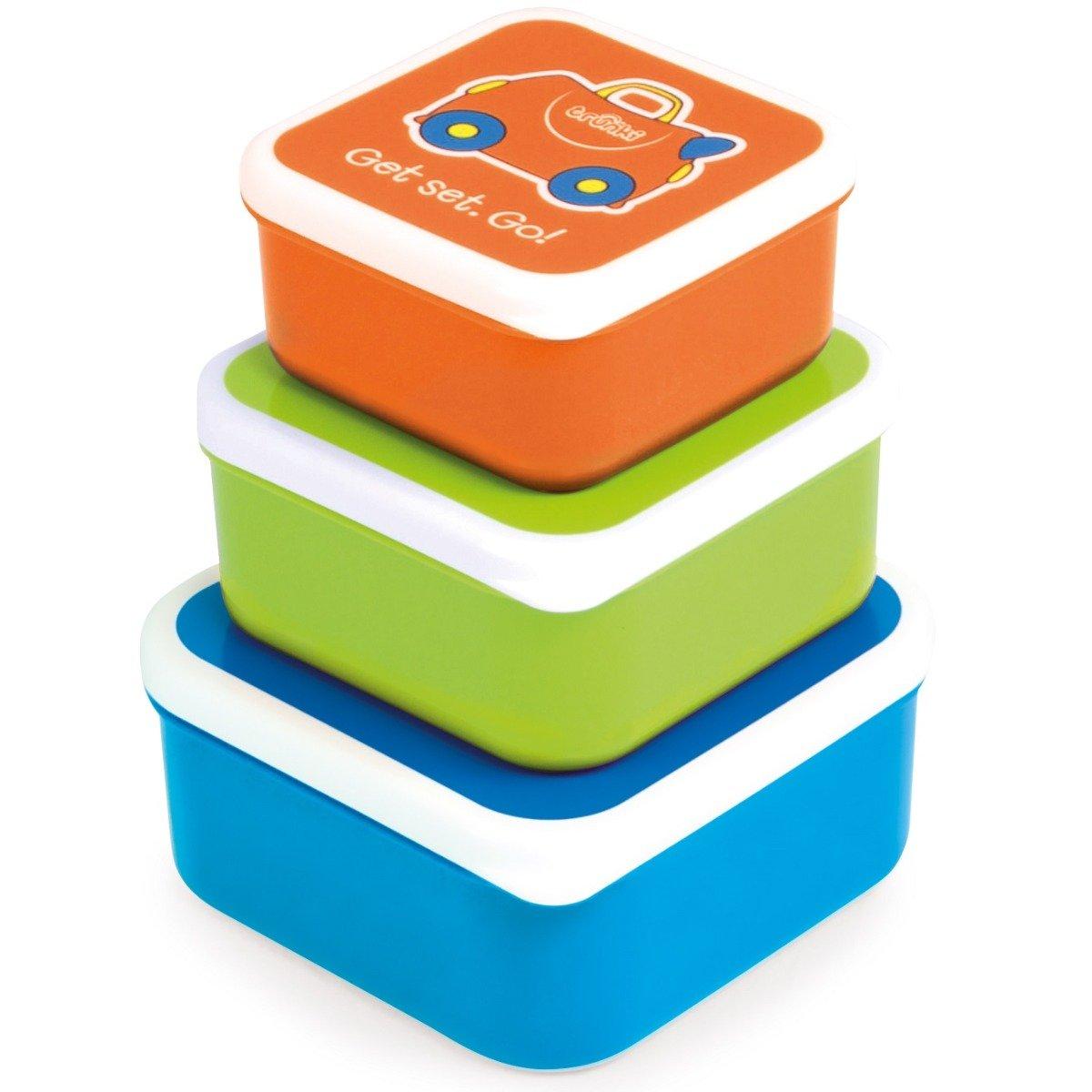 Set 3 caserole Trunki Portocaliu, Verde, Albastru imagine