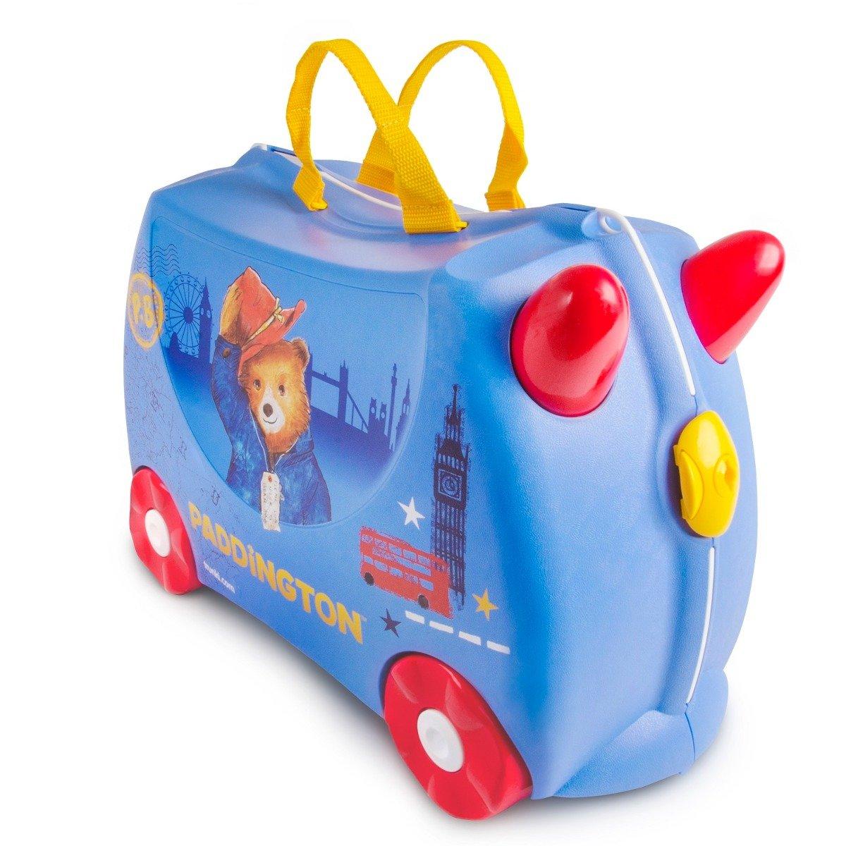 Valiza pentru copii Trunki Ride-On Paddington, Albastru imagine