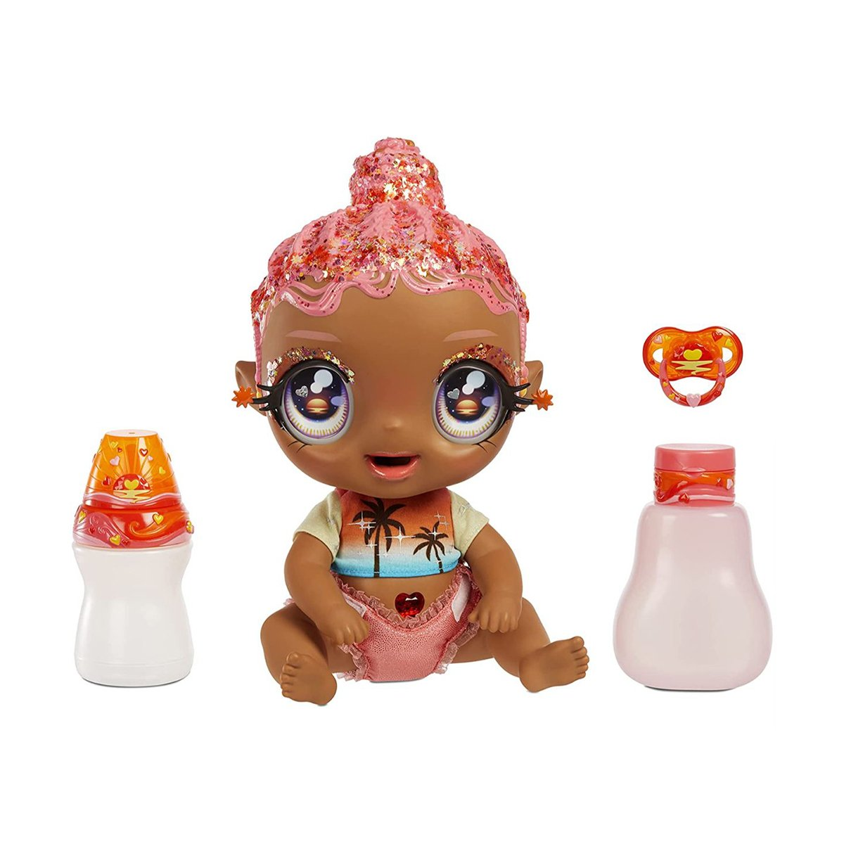 Papusa bebelus, I love U Baby Doll, Coral Pink