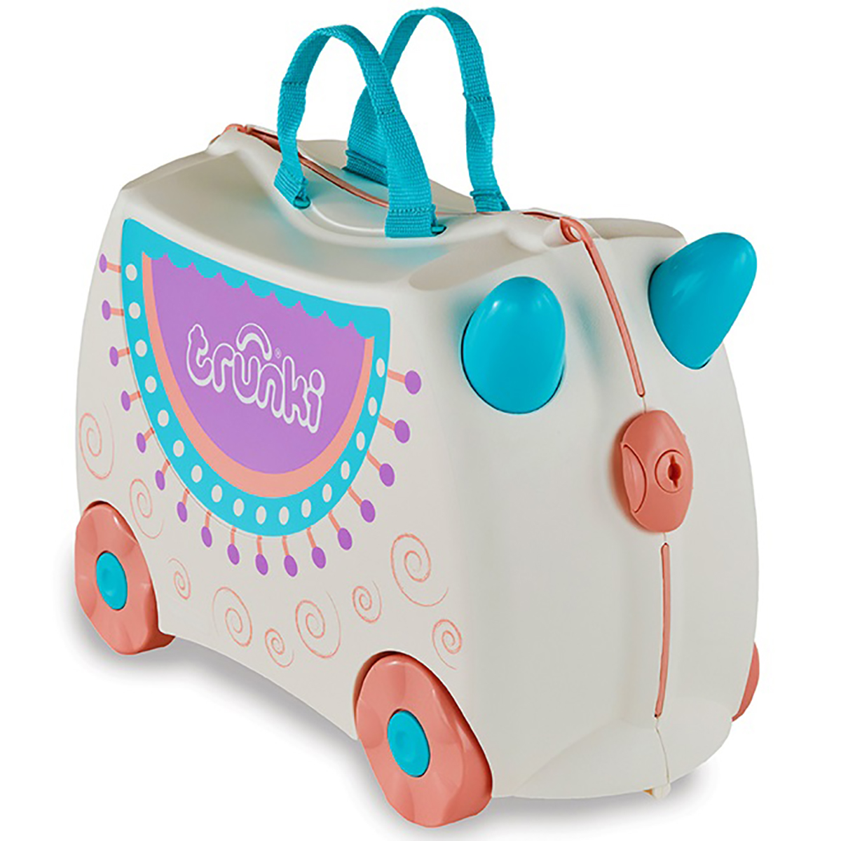 Valiza pentru copii Trunki Ride-On Lola The Llama, Gri imagine 2021
