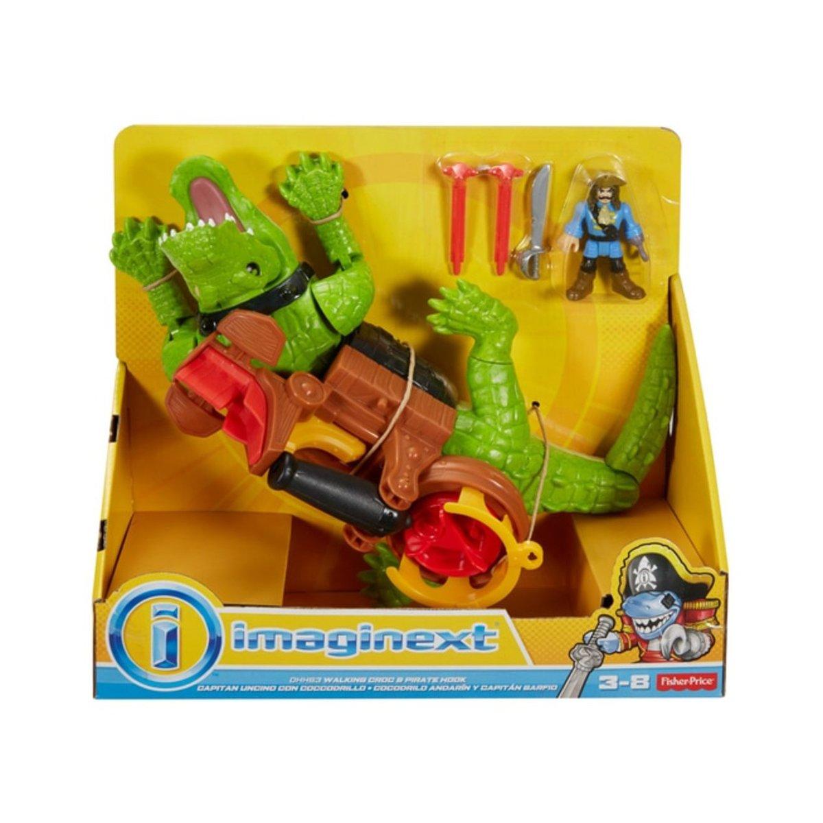 Figurina crocodil, Imaginext, cu pirat