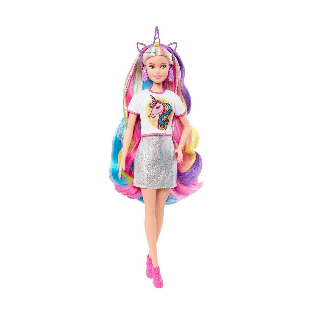 Papusa Barbie, Fantasy Hair, cu accesorii