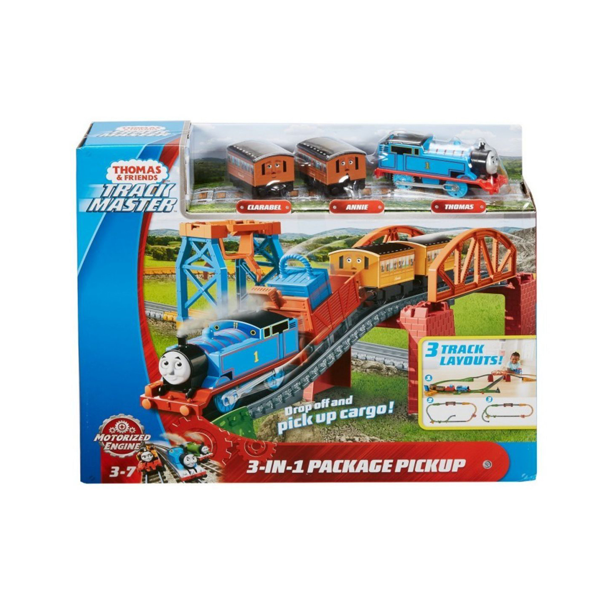 Set de joaca 3 in 1, Thomas and Friends, Track Master
