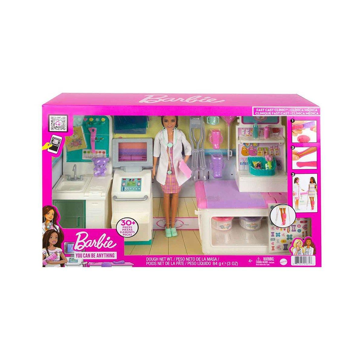 Set Papusa Barbie, Fast Cast Clinic