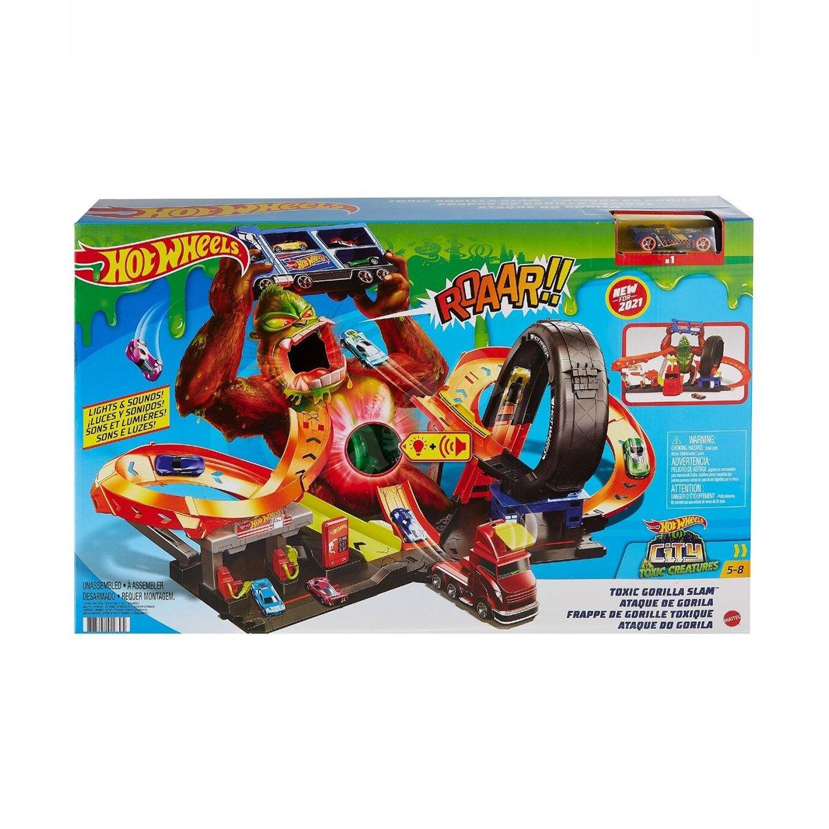 Set de joaca Hot Wheels, Gorila cu slime