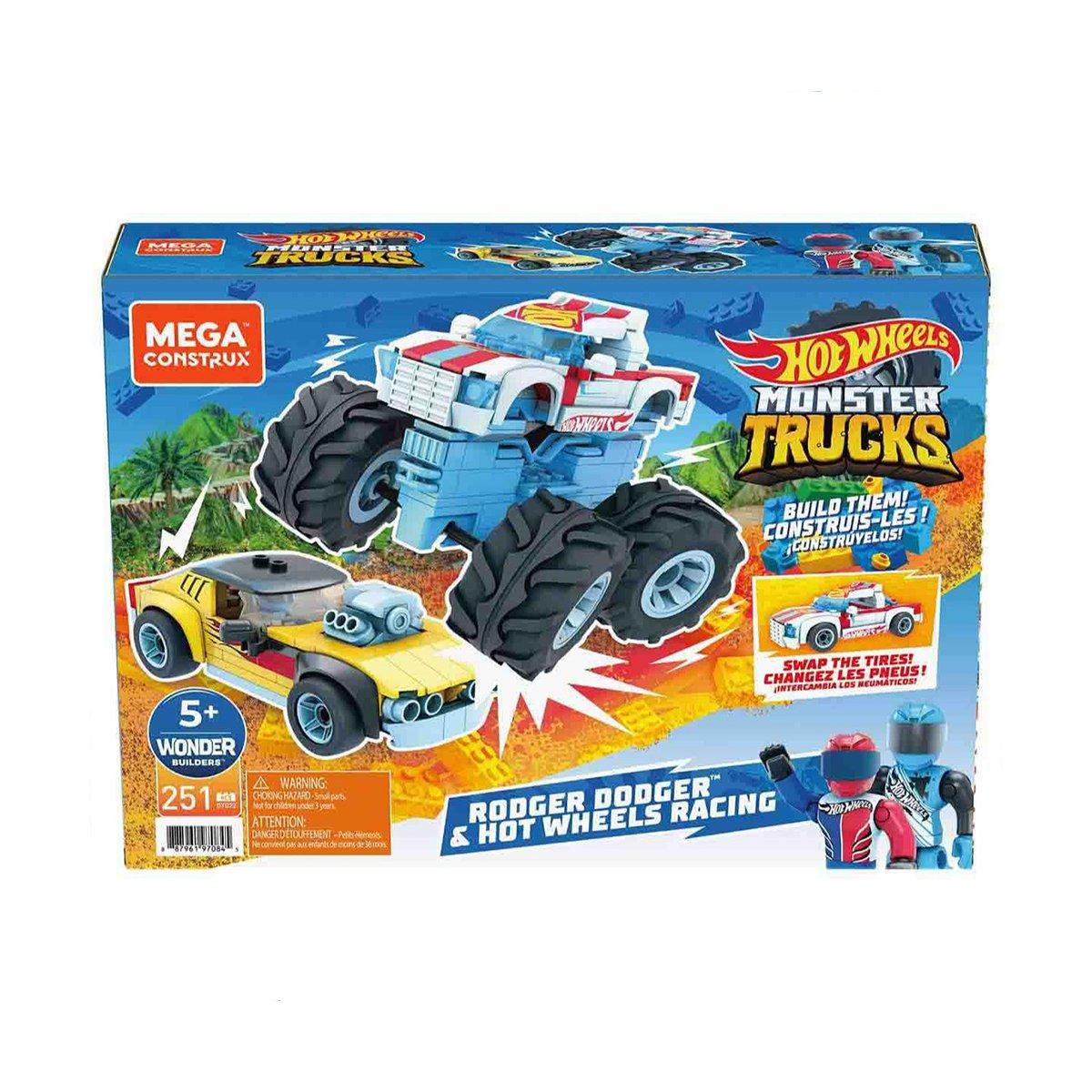 Set masinute, Hot Wheels, Megaconstrux, Rodger Dodger And Racing