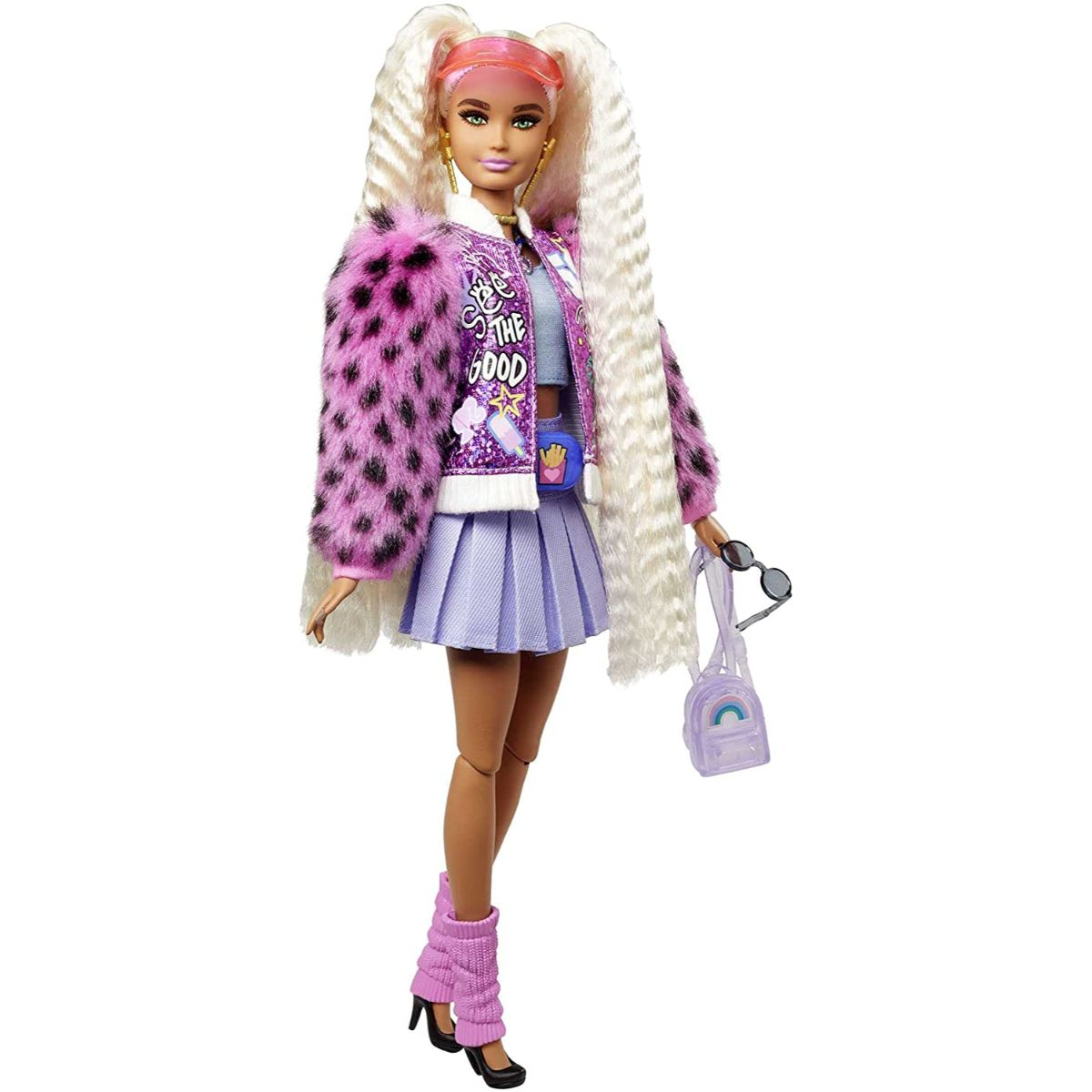 Papusa Barbie, Extra Style, Blonde Pigtails