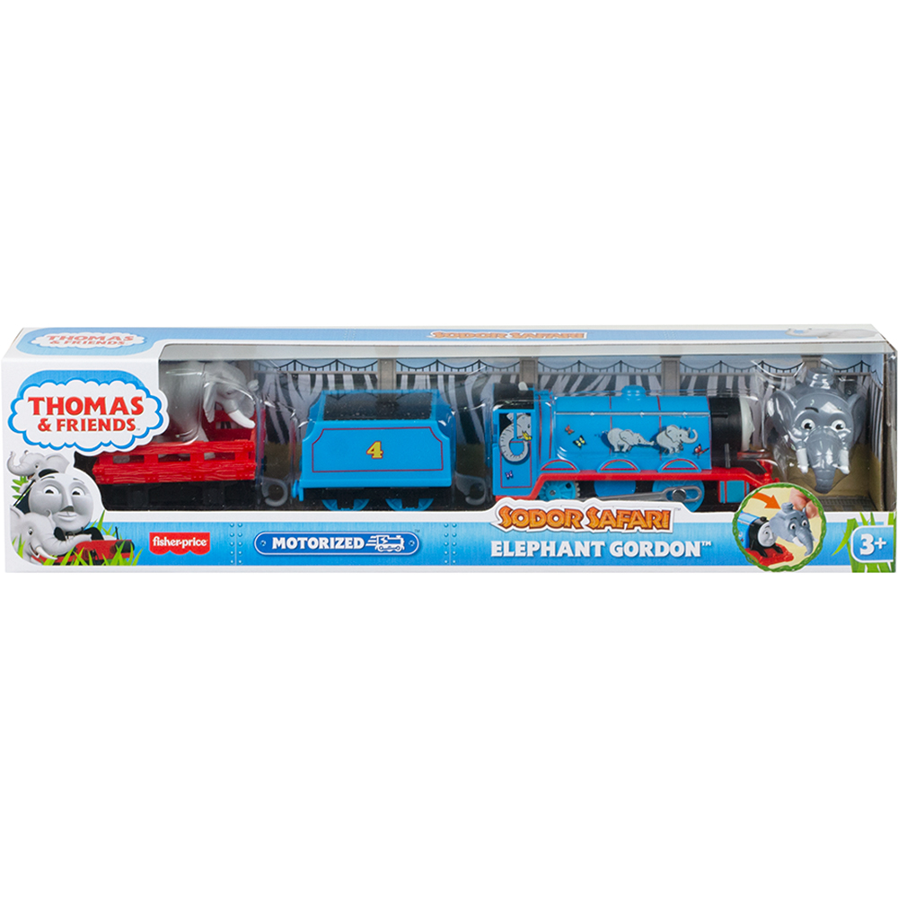Locomotiva motorizata Thomas and Friends, Safari cu animalute, Elephant Gordon