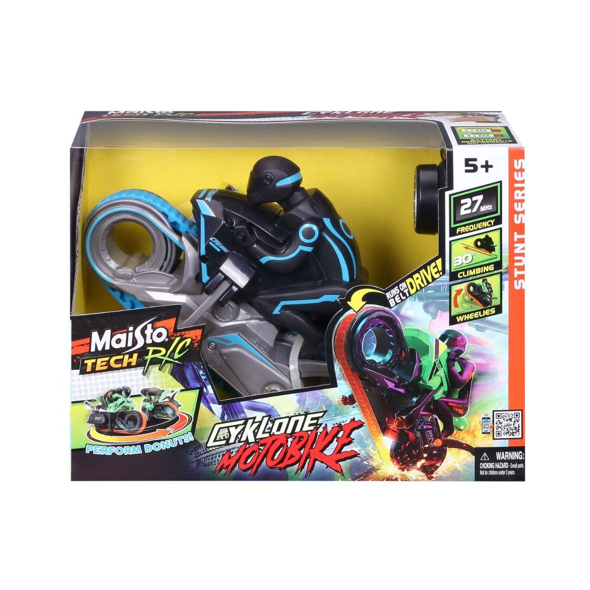 Motocicleta cu telecomanda, Maisto, Tech Cyklone Motobike, albastra