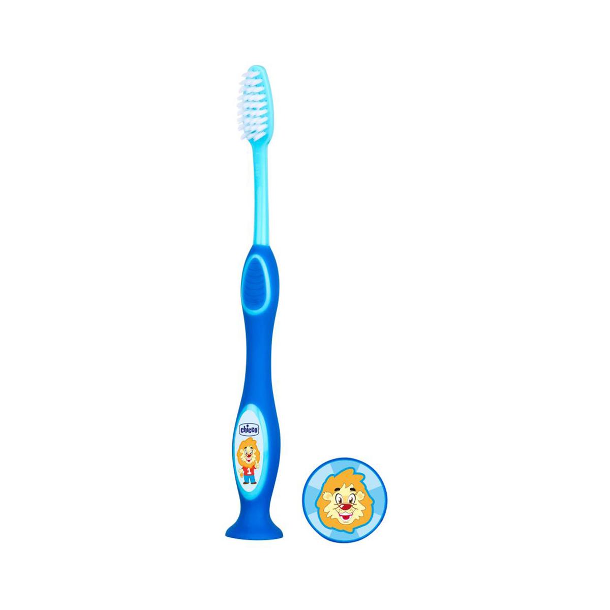 Periuta pentru dinti de lapte Chicco, 3 - 6 ani, Albastru