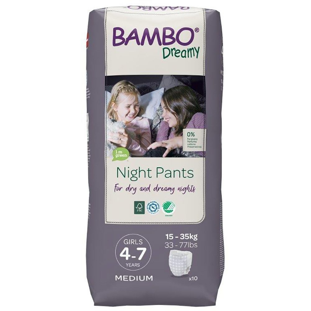 Scutece de noapte Bambo Nature Dreamy Girl, 15-35 Kg, 10 buc