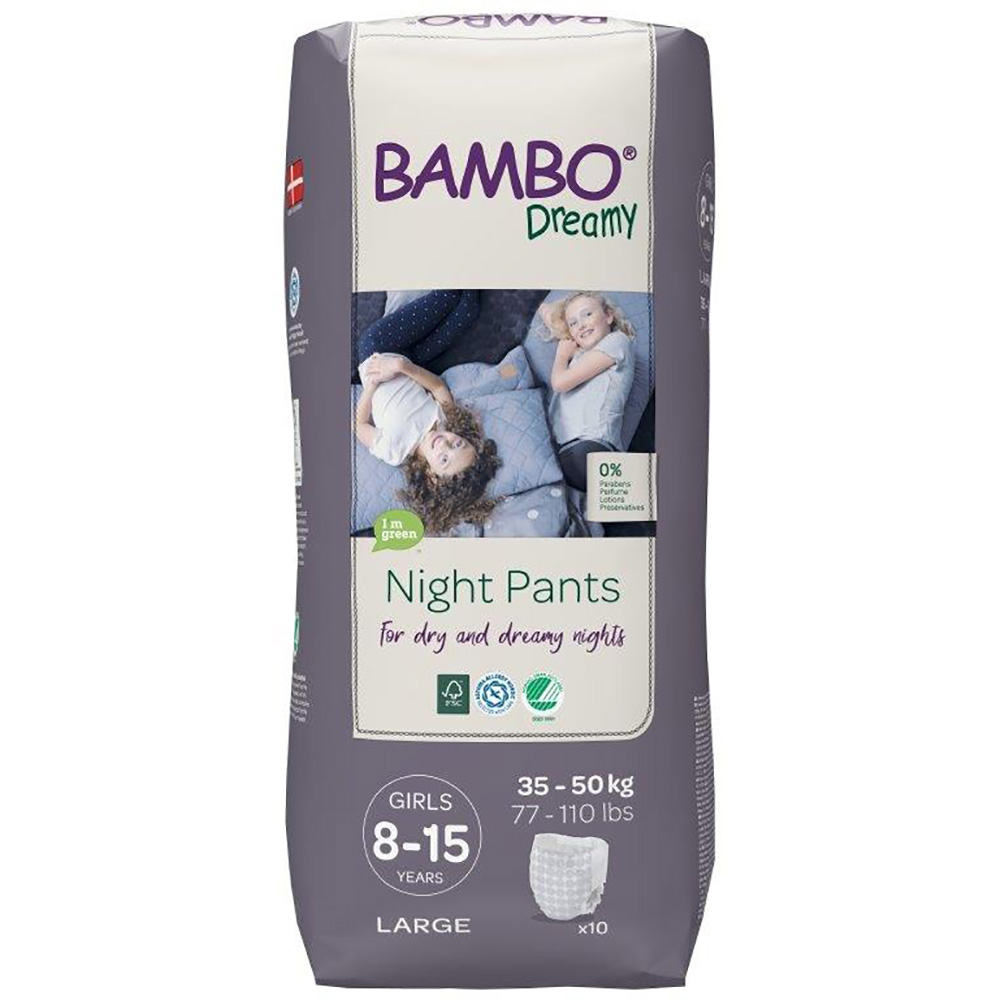 Scutece de noapte Bambo Nature Dreamy Girl, 35-50 Kg, 10 buc