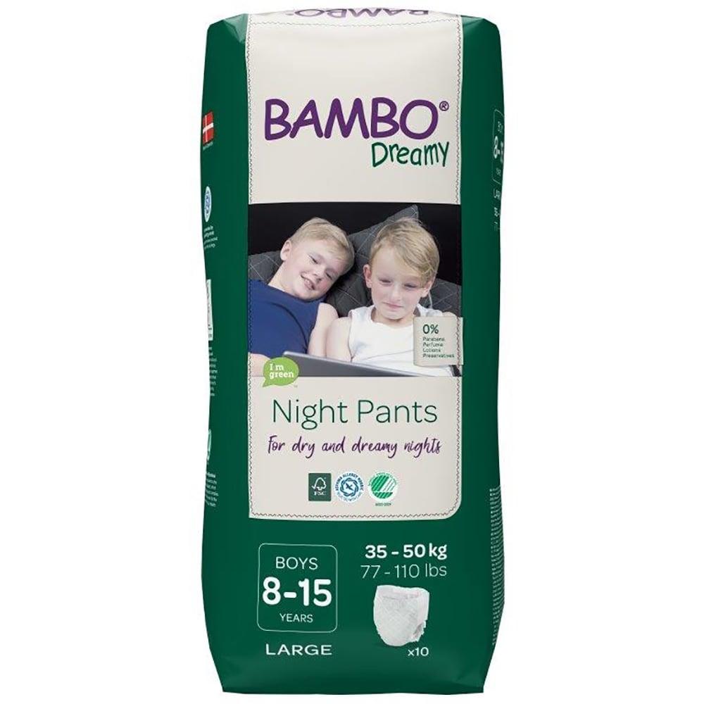 Scutece de noapte Bambo Nature Dreamy Boy, 35-50 Kg, 10 buc