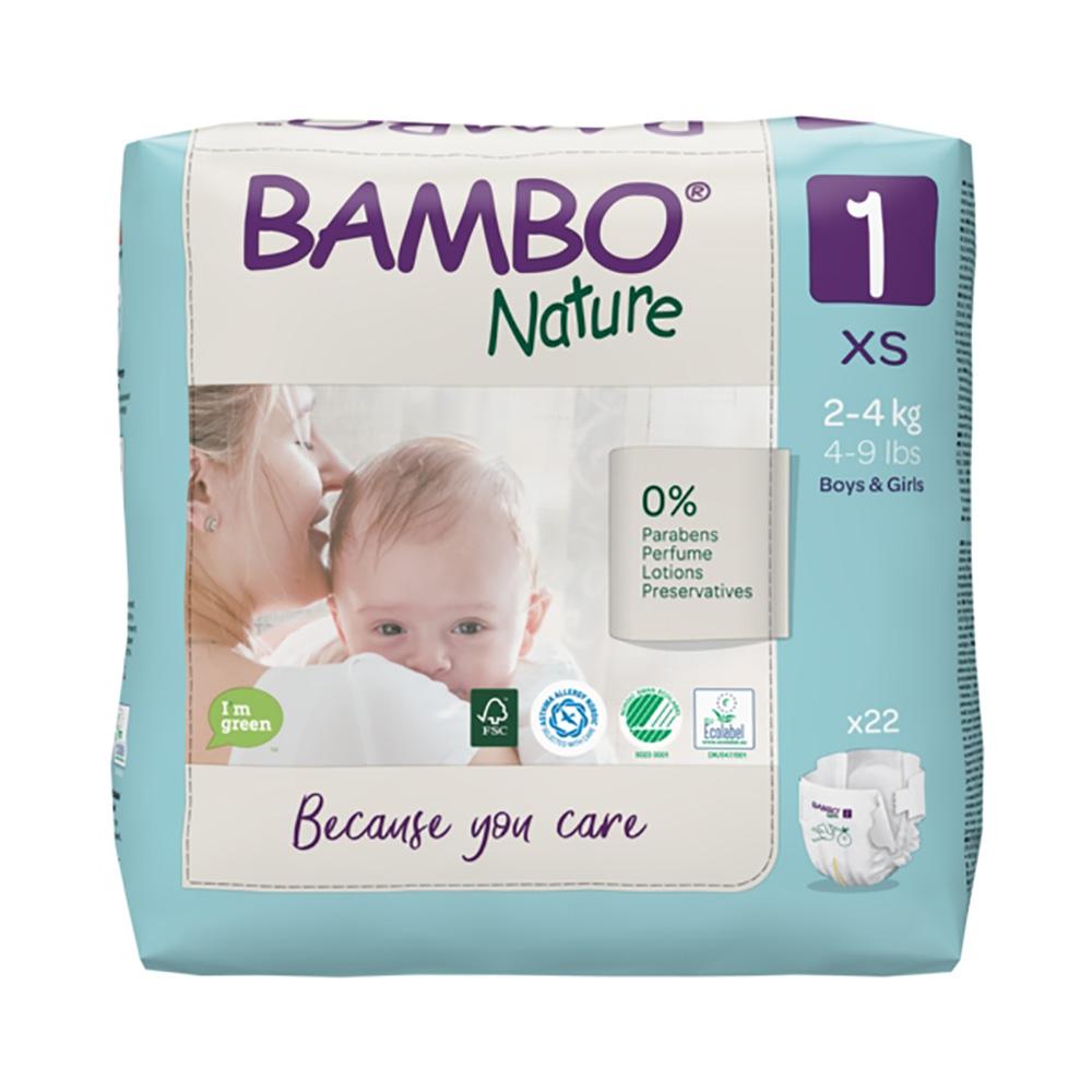Scutece Bambo Nature Eco Friendly, Nr 1, 2 - 4 Kg, 22 buc