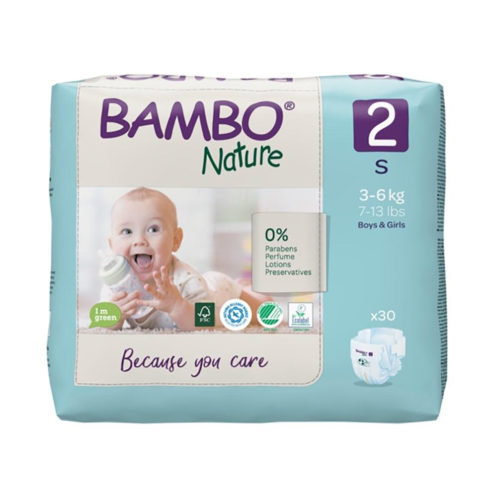 Scutece Bambo Nature Eco Friendly, Nr 2, 3 - 6 Kg, 30 buc