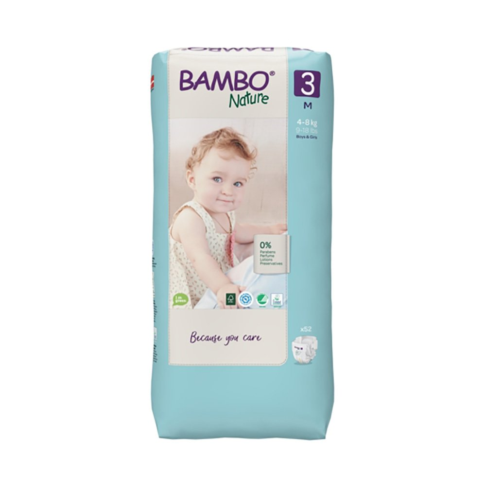 Scutece Bambo Nature Eco Friendly Tall, Nr 3, 4 - 8 Kg, 52 buc