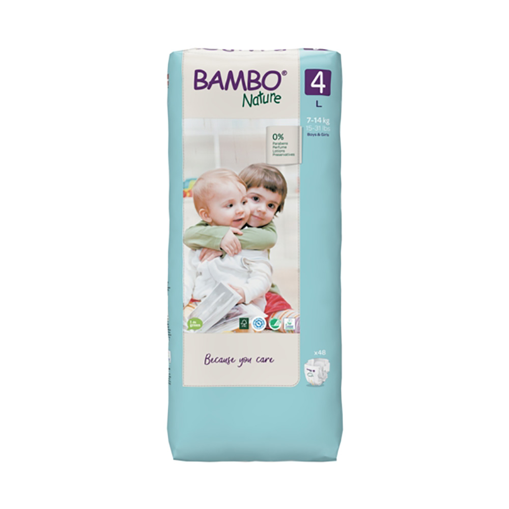 Scutece Bambo Nature Eco Friendly Tall, Nr 4, 7 - 14 Kg, 48 buc