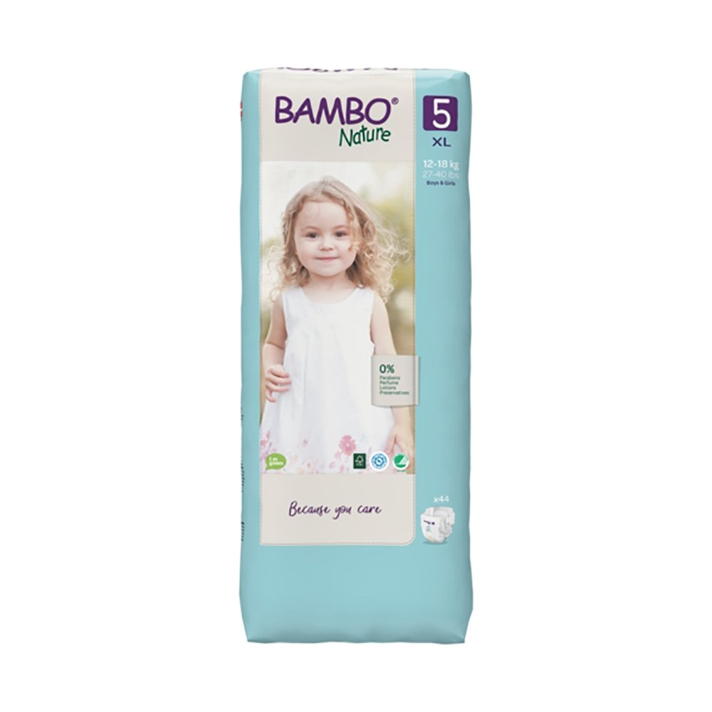 Scutece Bambo Nature Eco Friendly Tall, Nr 5, 12 - 18 Kg, 44 buc