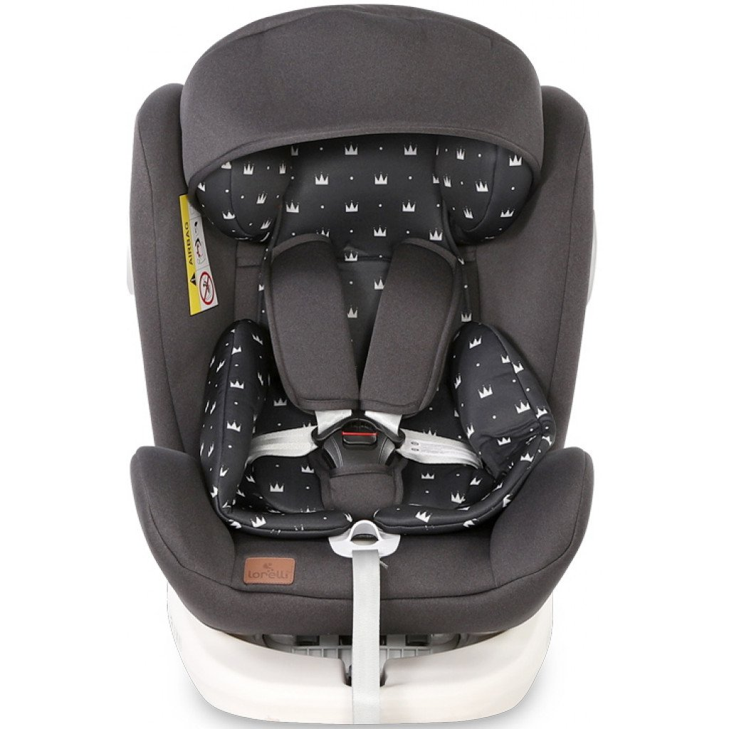 Scaun auto Lorelli Lusso SPS, Isofix, rotativ 360 grade, 0-36 kg, Black Crowns imagine