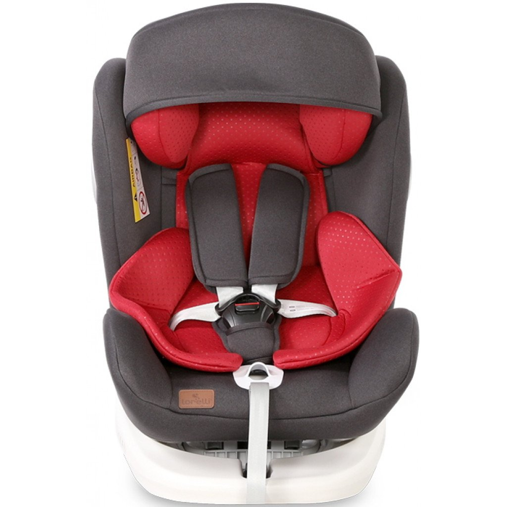 Scaun auto Lorelli Lusso SPS, Isofix, rotativ 360 grade, 0-36 kg, Black Red imagine