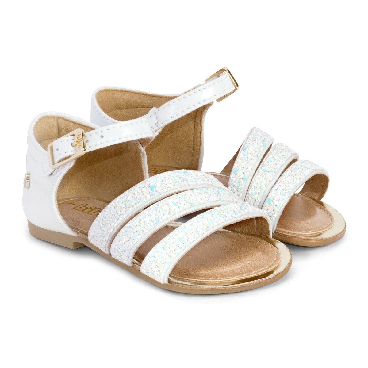 Sandale Bibi Shoes Miss Glitter, Alb