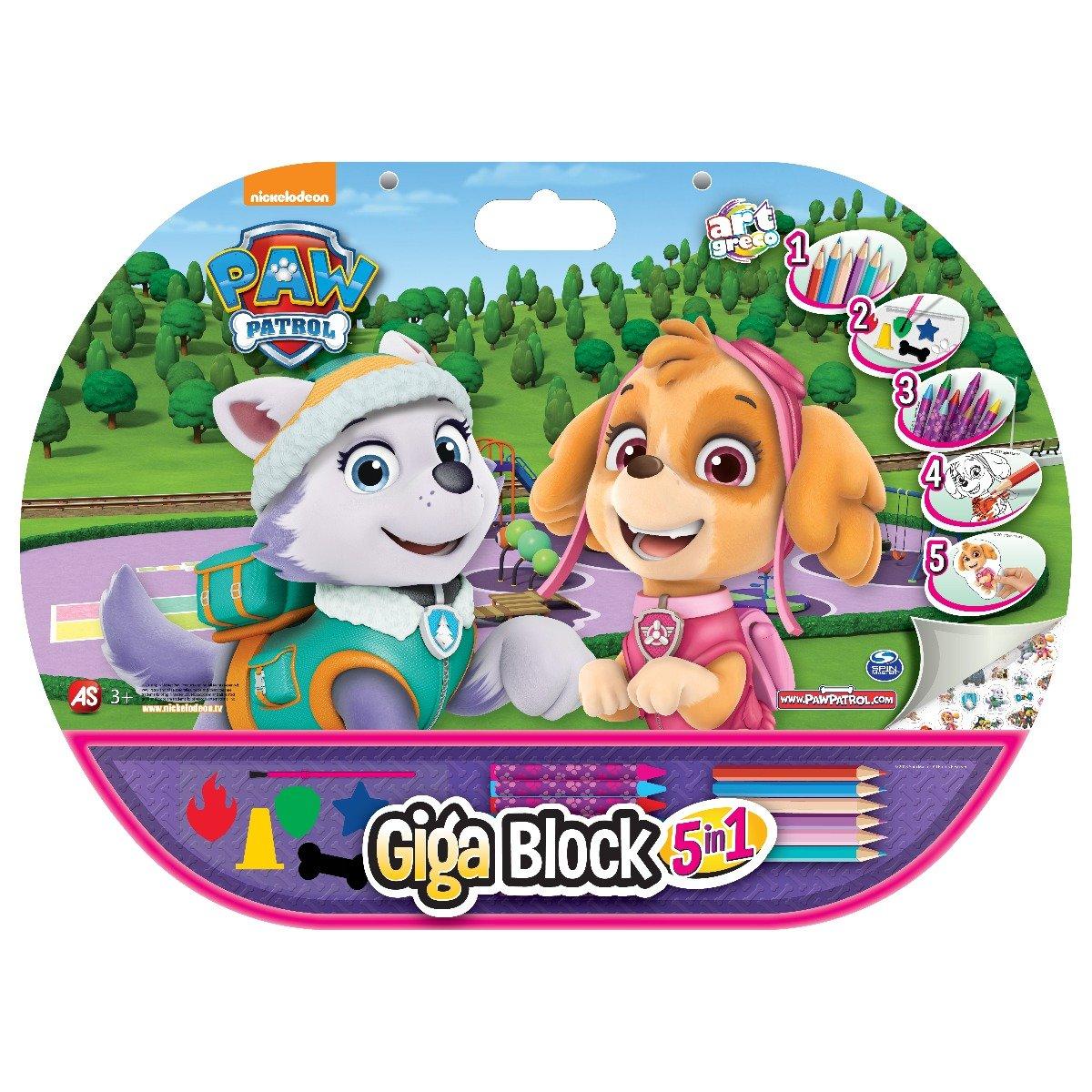 Set Desen Si Accesorii Paw Patrol Skye Giga Block 5 In 1