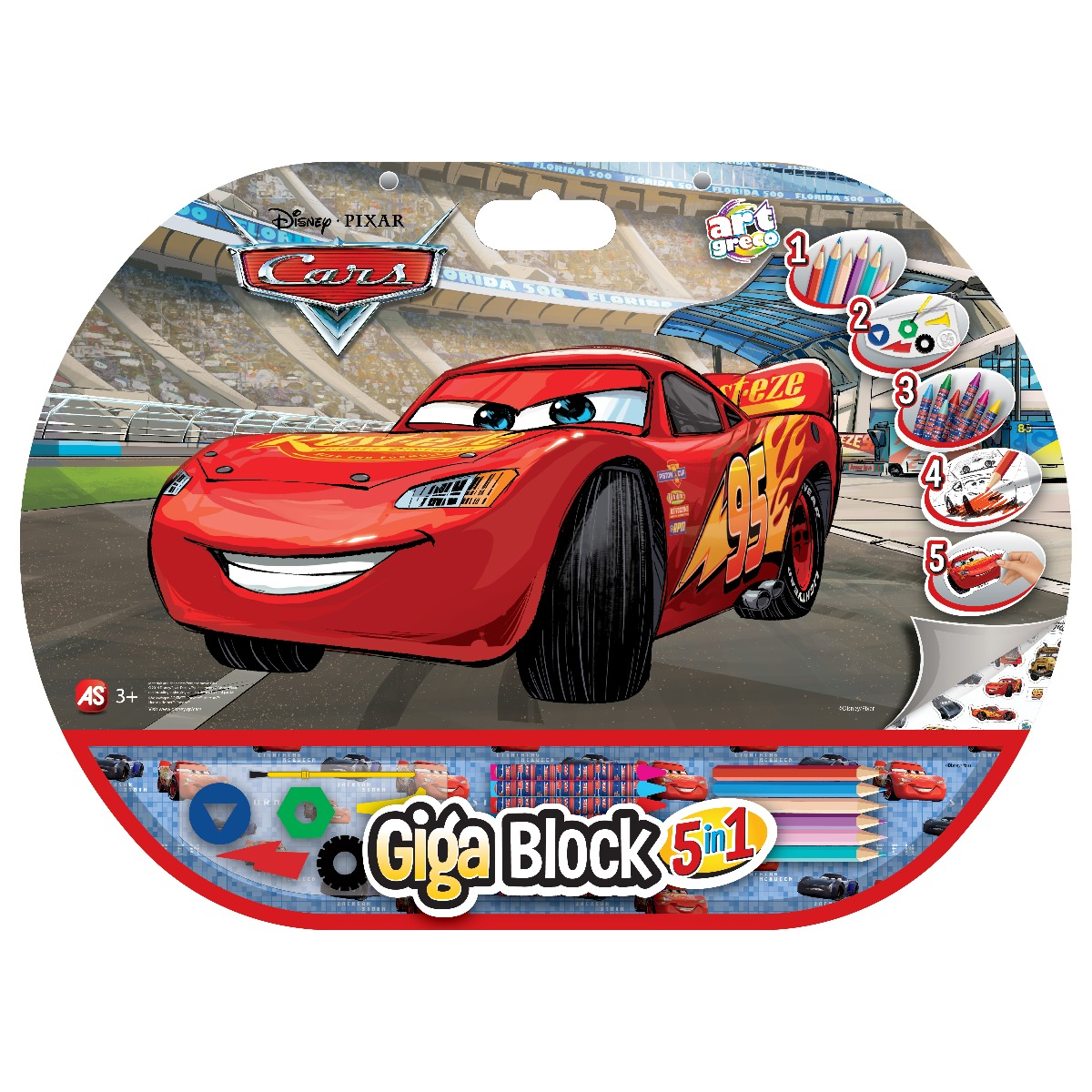 Set desen si accesorii Cars Giga Block 5 in 1