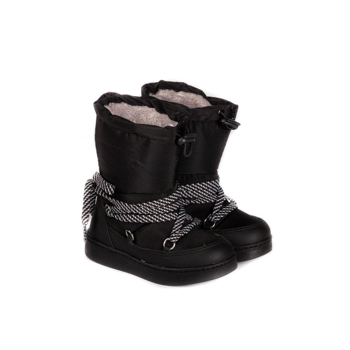 Cizme fete Bibi Urban Urban Boots Black cu blanita