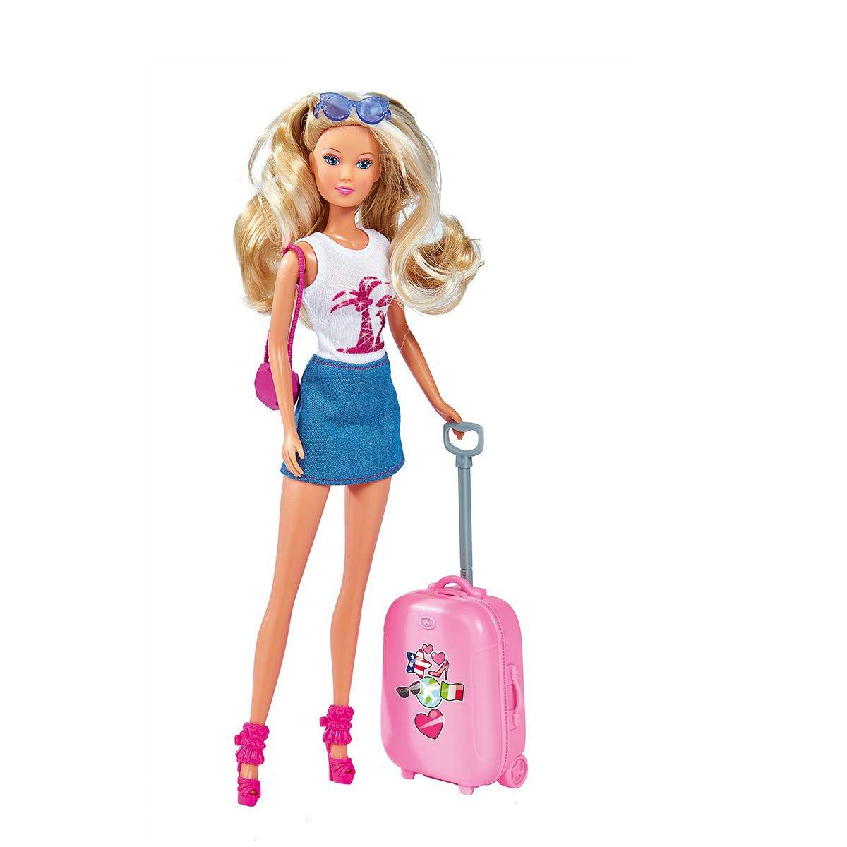 Papusa Steffi Love cu accesorii de vacanta, Travel Fun