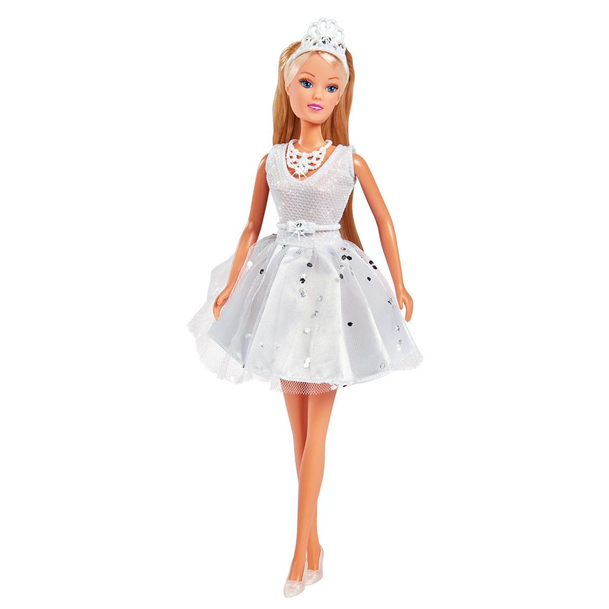 Papusa cu rochie evazata decorata cu cristale Steffi Love
