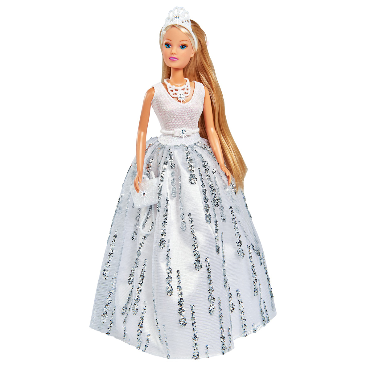 Papusa cu rochie de gala decorata cu cristale Steffi Love