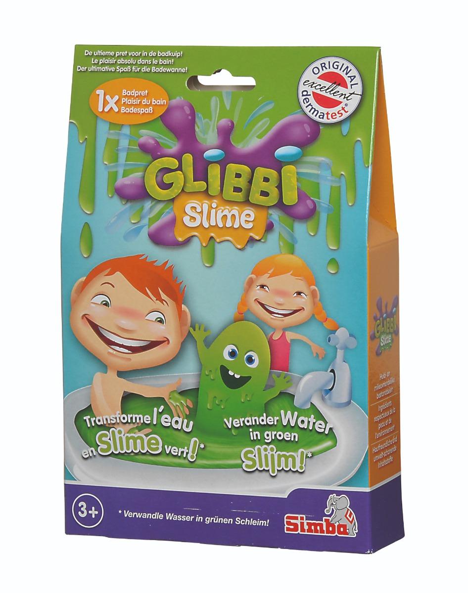 Pudra pentru baie Glibbi Slime, verde