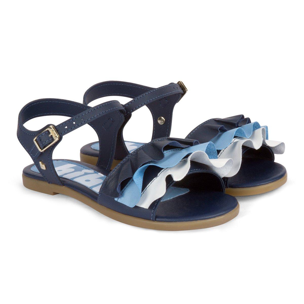 Sandale din piele Bibi Shoes Fresh Naval, Bleumarin