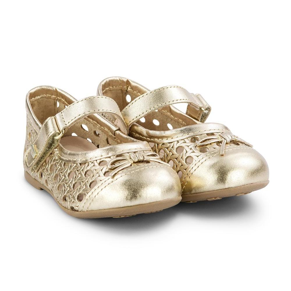 Balerini Din Piele Bibi Shoes Anjos Mini Gold