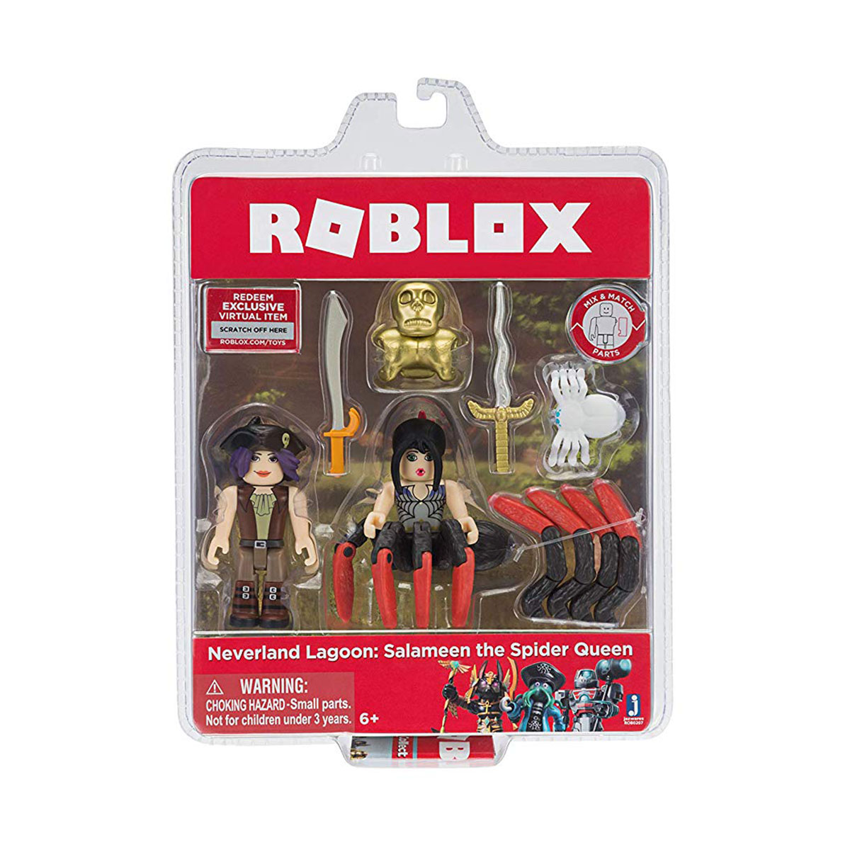Set 2 figurine Roblox, Neverland Lagoon Salameen the Spider Queen