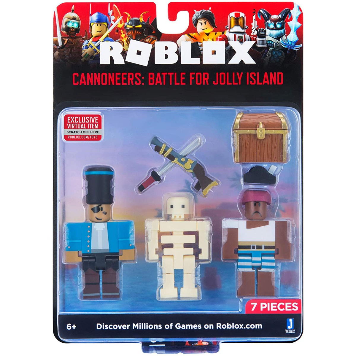 Set 2 figurine Roblox, Cannoneers: Battle For Jolly Island