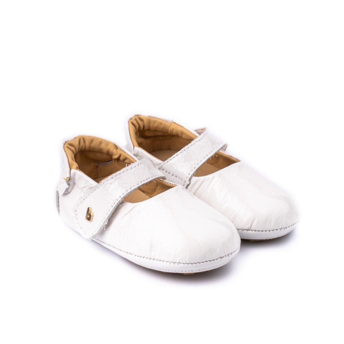 Balerini lacuiti Bibi Shoes Afeto, Alb imagine