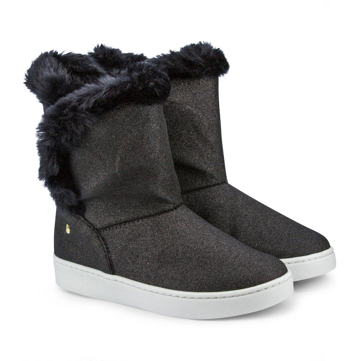 Cizme cu sclipici Bibi Shoes Urban Black
