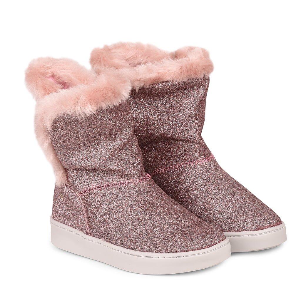 Cizme cu blanita Bibi Shoes Urban Glitter, Roz imagine
