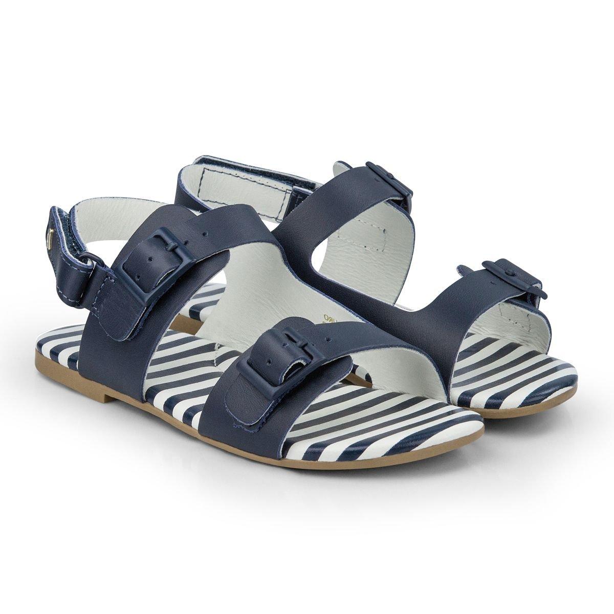 Sandale din piele BIbi Shoes Baby Birk, Bleumarin