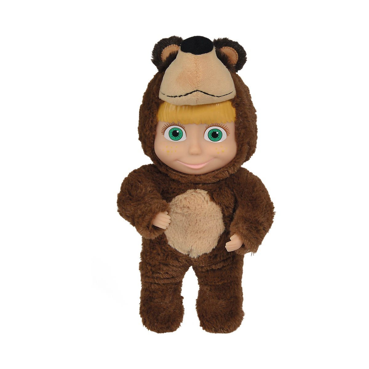 Papusa Masha and The Bear, in costum de urs, 25 cm