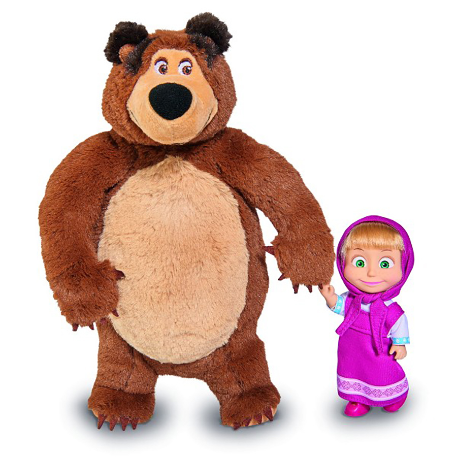 Set papusa si ursulet de plus Masha si Ursul
