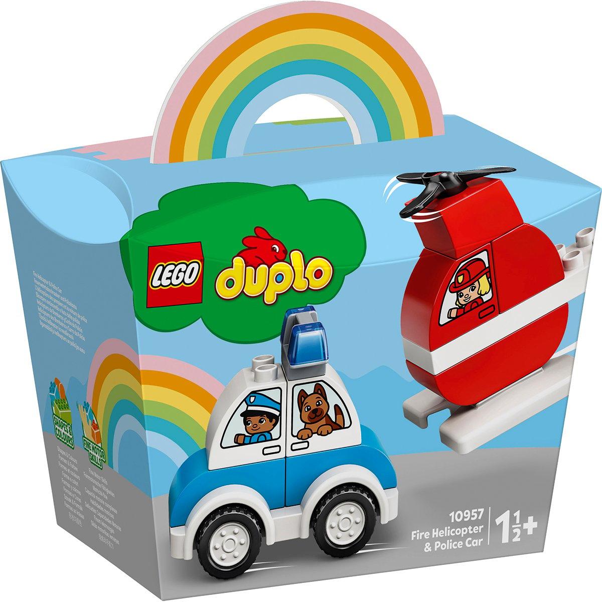 LEGO® DUPLO® - Elicopter de pompieri si masina de politie (10957)