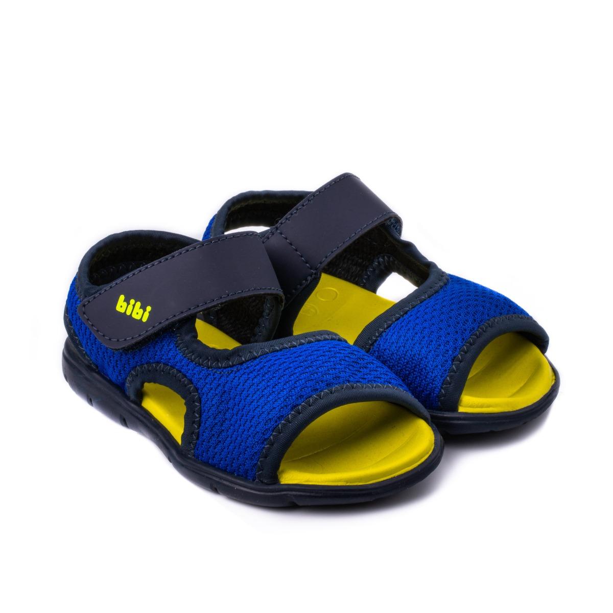 Sandale Bibi Basic Mini Naval/Galben